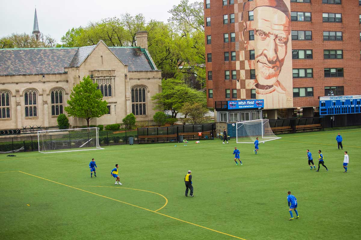 Wish Field on DePaul's Lincoln Park Campus